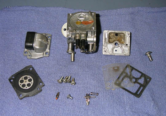 Disassembled Carburetor